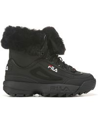 Fila Disruptor Shearling Boot - Black