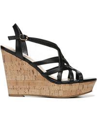 Fergie Villa Wedge Sandals - Black