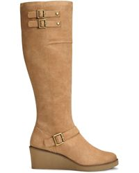 A2 By Aerosoles Robbins Egg Medium/wide Tall Shaft Boots - Brown