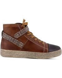 Spring Step Ahitop High Top Sneakers - Brown