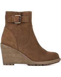 Fergie Trace Wedge Ankle Boots - Brown