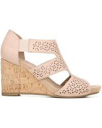 LifeStride Heidi Medium/wide Wedge Sandals - Multicolor