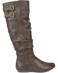 White Mountain Footwear Fox Wide Calf Wide Boots In Brown Lyst