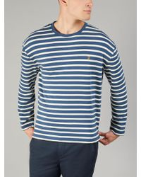 Farah - Bain Long Sleeve Stripe T-shirt - Lyst