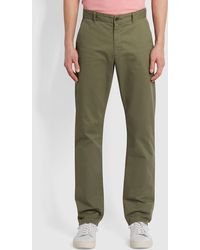 Farah Elm Regular Fit Organic Cotton Twill Chinos - Green