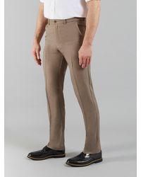 Farah Roachman Flexi Waist Trousers - Natural