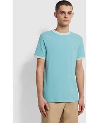 Farah Texas Slim Fit Organic Cotton T-shirt - Green