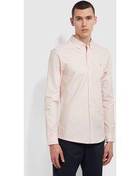 Farah Brewer Slim Fit Organic Cotton Oxford Shirt - Pink