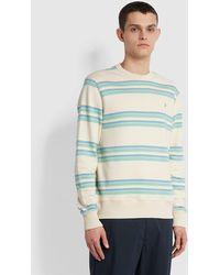 Farah Westpark Stripe Sweatshirt - Natural