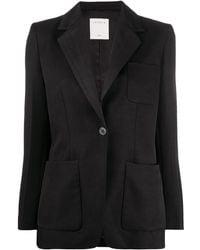 Sandro Fitted Long Sleeve Blazer - Black