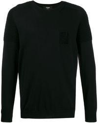 Fendi リブ セーター - ブラック