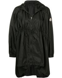 Moncler Manteau oversize à capuche - Noir