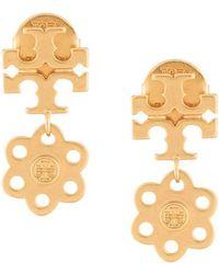 Tory Burch - Logo Charm Earrings - Lyst