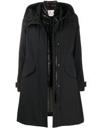 Woolrich Abrigo con capucha y botones - Negro