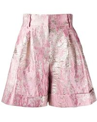 Dolce & Gabbana Shorts con effetto jacquard - Rosa