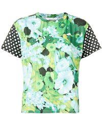 Richard Quinn - Dotted Sleeve Floral T-shirt - Lyst