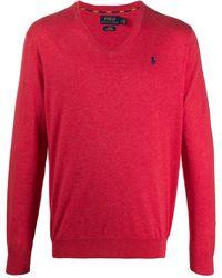 Polo Ralph Lauren V-neck Sweater - Pink