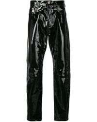 Versace - Embellished Leather Pants - Lyst