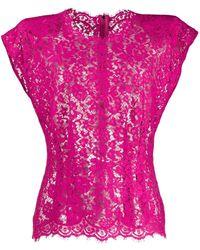 Dolce & Gabbana - Блузка Из Цветочного Кружева - Lyst
