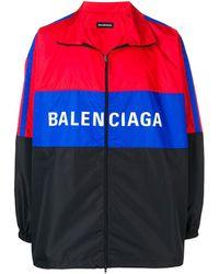 Balenciaga Windjack Met Logo - Rood