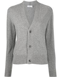 Closed Rib-trimmed Cashmere Cardigan - Grey