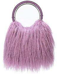 Kate Spade 'Betty' Handtasche mit Faux Fur - Lila