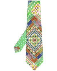 Versace Галстук С Геометричным Принтом - Зеленый