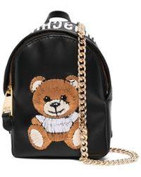 Moschino Bandolera con bordado Teddy Bear - Negro