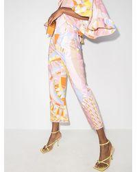 Emilio Pucci Cropped-Hose mit Print - Mehrfarbig