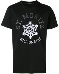 Billionaire - Graphic Print T-shirt - Lyst