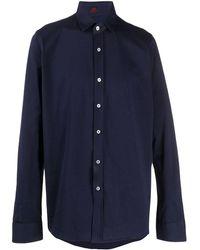 Mp Massimo Piombo ロゴ ドレスシャツ - ブルー