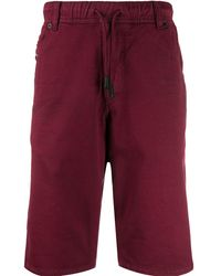DIESEL Slim-fit Shorts - Rood