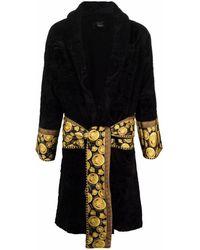 Versace メドゥーサ ベルテッド ローブ - ブラック