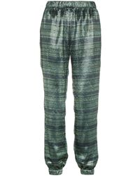 Haney Track Striped Trousers - Groen