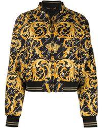 Versace Бомбер С Принтом Baroque - Черный