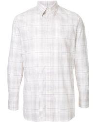 Gieves & Hawkes チェックシャツ - ホワイト