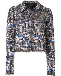 Giambattista Valli - Bouclé-tweed Floral Jacket - Lyst