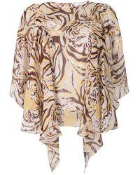 See By Chloé Tiger Print Flouncy Blouse - Multicolour