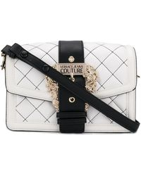 Versace Jeans Quilted Shoulder Bag - White
