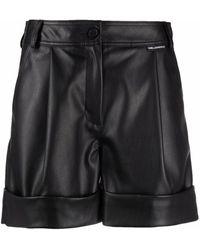 Karl Lagerfeld ロールアップヘム ショートパンツ - ブラック