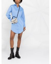 Liu Jo シャツスタイル ミニドレス - ブルー