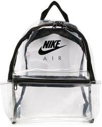 Nike Sac à dos Just Do It à design transparent - Blanc