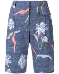 Paul Smith - Floral Print Tailored Shorts - Lyst