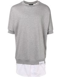 3.1 Phillip Lim Sweat à manches courtes - Gris