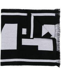 Givenchy Intarsien-Schal mit Logo - Schwarz