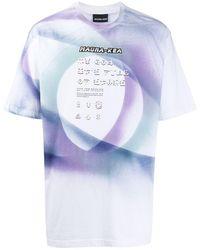 Mauna Kea T-Shirt mit grafischem Print - Weiß