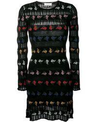 Sonia Rykiel Patterned Jacquard Dress - Black