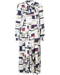 Oscar de la Renta - Nautical Notes Shirt Dress - Lyst