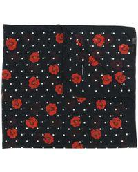 Saint Laurent - Rose Polka Dot Print Scarf - Lyst