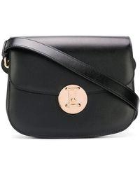 CALVIN KLEIN 205W39NYC Small Round Lock Shoulder Bag - Black